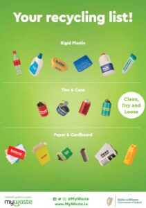 My Recycling List from mywaste.ie